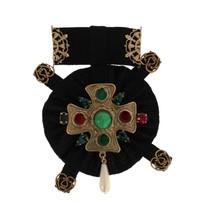 Dolce & Gabbana Gold Crystal Floral SICILY Brooch Pin - $360.97