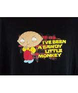 Stewie Bawdy Little Monkey 2XL Black T-Shirt Family Guy XX-Large Tee Sle... - $13.86