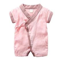 Panda Superstore [Pink] Chinese Baby Bodysuit Summer Short Sleeves Cotton Baby R