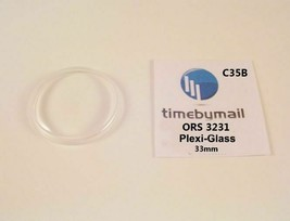 For ORIS 3231 Plexi-Glass Watch Crystal 33mm Replacement New Spare Part C35B - $18.58