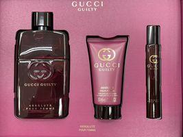 Gucci Guilty Absolute Pour Femme Perfume 3.0 Oz Eau De Parfum Spray 3 Pcs Set image 3