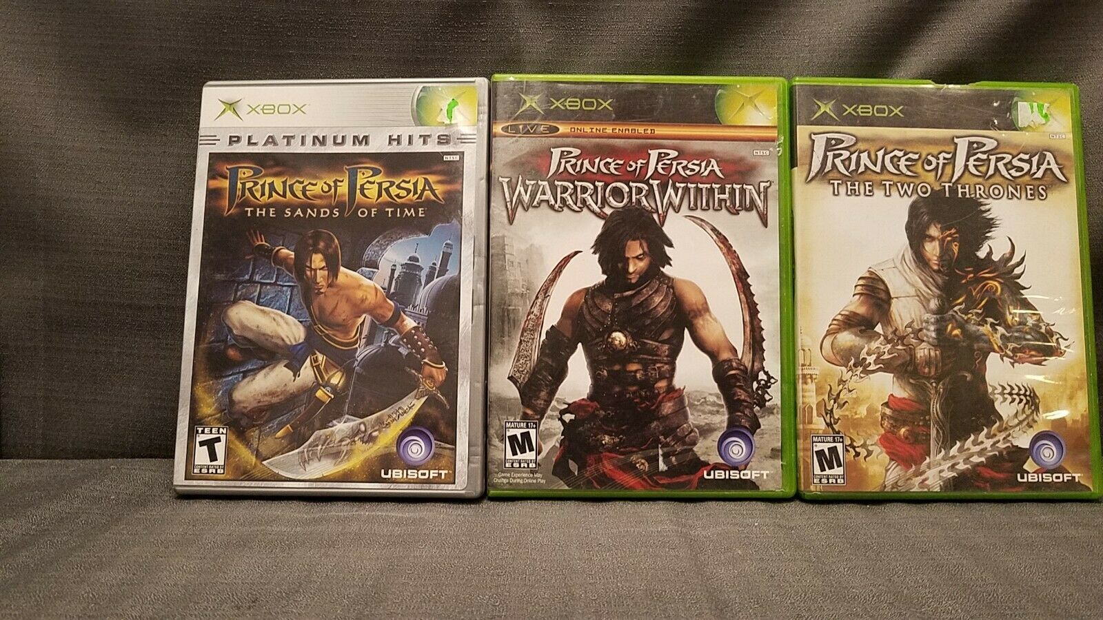 Lot of 3x Xbox Games Prince of Persia Sands Time Warrior Within Two Thrones