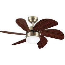 Westinghouse Lighting 7234700 Turbo Swirl Indoor Ceiling Fan with Light, 30 Inch - $108.32
