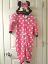 Disney Store Minnie Mouse Hooded Blanket Sleeper with Ears Sz 4T - $24.99