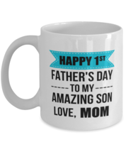 New Dad Mug From Mom To Son - Cool Unique 1st First Father's Day Coffee ... - $14.95+