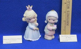 Precious Moments Ornament 1999 Pretty Christmas Princess & White Christmases - $16.82