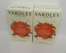Yardley London Moisturizing Bath Bar Soap Pumpkin Cream & Cinnamon Lot of 2  - $8.90