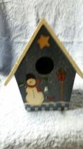 Snowman faux wooden birdhouse - $15.00