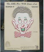 VTG Novelty Toy Little Man w Green Hair Watch it Grow - $12.00