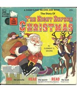 Night Before Christmas Book 33 LP Record set Walt Disney Vinyl 1970 - $6.93