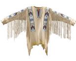 New Native American Handmade Beads Buckskin Buffalo Hide Powwow War Shirt NA138 - $356.49 CAD