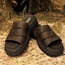 Womens Skechers Brown Leather Jammers Sandals SN 1392 US Sz 8 - $29.95