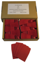 500 Red Archival Paper Coin Envelopes 2x2 by Guardhouse, Acid and Sulphe... - $23.98