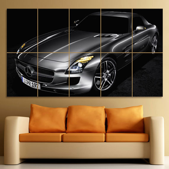 Primary image for Wall Poster Art Giant Picture Print Mercedes-Benz SLS AMG 0050PB