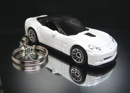 White 2009 Chevrolet Corvette ZR1 Keychain Key Ring Fob 09 - $13.07