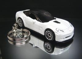 White 2009 Chevrolet Corvette ZR1 Keychain Key ... - $13.07
