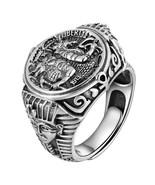 Gothic Egypt Pharaoh Tutankhamun Real 925 Sterling Silver Rings For Men - $64.99