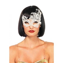 Leg Avenue Women's Fantasy Eye Mask Costume Accessory White One Size - $10.99