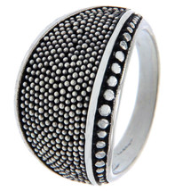 925 Sterling Silver Pebble Ring Size 7.5 » R18 - $29.95