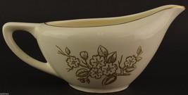 Knowles Apple Blossom Pattern Creamer Vintage China Tableware Dinnerware Gold - $7.99
