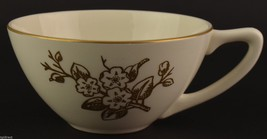 Knowles Apple Blossom Pattern Flat Cup Vintage China Tableware Dinnerware Gold - $7.99