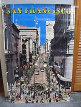 VTG 1960s 1970s San Francisco Poster Powell St Market Cable Cars Turnaround - $99.95