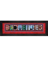 Budweiser or Clydesdales Framed Letter Art - $39.95