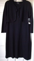 New Nine West Women's Sweater Dress With Attached Vest Black Size M - $37.79