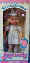 "1985 Mandy ""My Friend"" Special Birthdaymandy Fisher Price Doll w/Gift 4009 Nrfb - $58.41"
