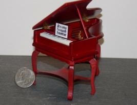 "1 Pcs Dollhouse Miniature Wood Spinet Piano 1:12"" Scale - DL - $152.00"