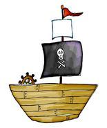 Pirate Boat-Digital Download-ClipArt-ArtClip-Di... - $3.00