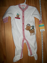 Carter Baby Clothes 3M Newborn Reindeer Playsuit Deer Christmas Holiday ... - $12.34