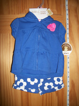 Carter Baby Clothes 0M-3M Newborn Girl Sweatshirt Outfit Blue Flower Sho... - $18.99