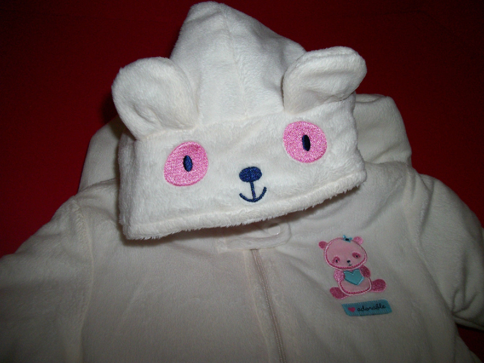 Carter Baby Clothes 3M 6M Newborn Footed Pram White Polar