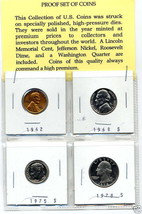 Education Treasure Proof Set Money US S Coin Mix Lot Penny Quarter Dime Nickel - $18.99
