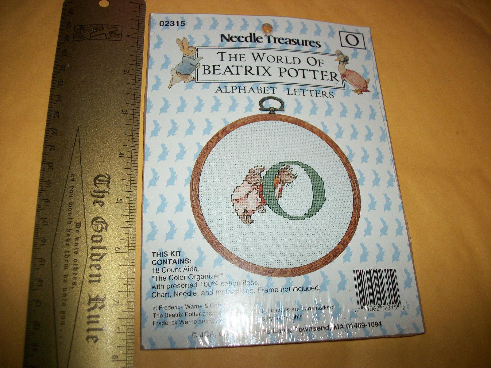 Peter Rabbit Craft Kit Bunnies Beatrix Potter Cross Stitch New Alphabet Letter O - $9.49
