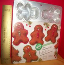 Wilton Food Craft Bake 6 Christmas Holiday Gingerbread Boy Snack Treats ... - $18.99