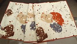 Paint Splatter Printed Table Runner- Brown, Tan, Rust .. 13 1/2 x 53  #6845 - $8.49