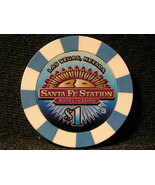 "$1.00 CASINO CHIP FROM: ""SANTA FE STATION"" - (sku#2715) - $4.99"