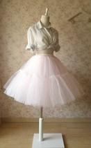 Women Girl Pink Tutu Skirt Princess Pink Midi Tulle Skirt 6 Layer Puffy Tutus image 1