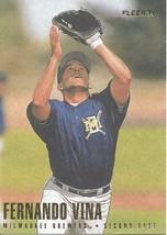 1996 Fleer Fernando Vina 162 Brewers - $1.00