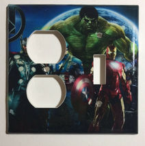 Comics Heroes iron-man Light Switch Outlet Toggle Wall Cover Plate Home decor image 13