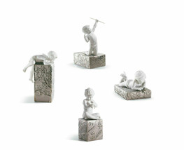 Lladro Lot of 4 Wondering 8280 Playing 8282 Creating 8283 Striving 8284 New - $1,200.00