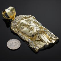 Iced Gold Jesus Face Men's Large CZ Pendant - $1,099.99+
