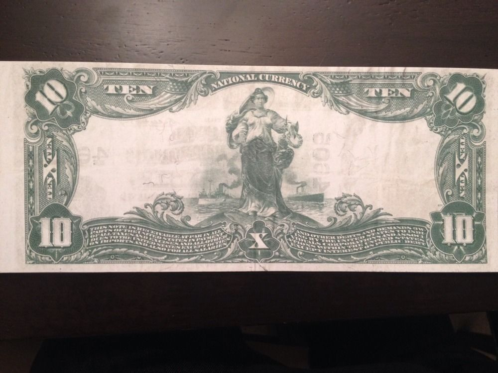 Reproduction $10 National Bank Note 1902 National Bank The Republic Chicago IL
