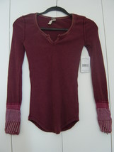 Free People We The Free Kyoto Cuff Thermal in Mulberry (Size: XSmall) NWT - $85.00