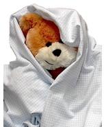 Blue Gingham Flannel Baby Blanket, handmade inf... - $12.95