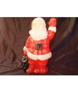 Santa Lighted Blow Mold Christmas Vintage - $32.00