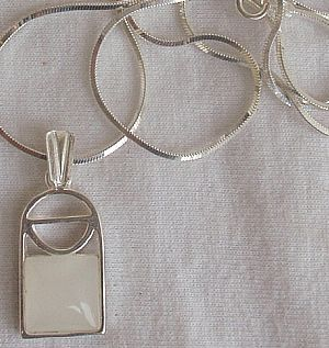 Mini white window pendant