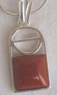 Mini blood stone pendant